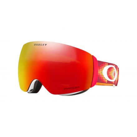 Masque de snow Oakley Flight Deck Red Prizm Torch Iridium