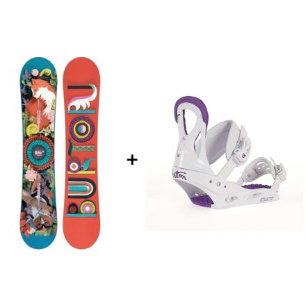 Pack snowboard Burton Genie 2018 + Fixation Stiletto