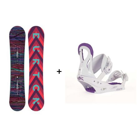 Pack snowboard Burton Feather 2018 + Fixation Stiletto