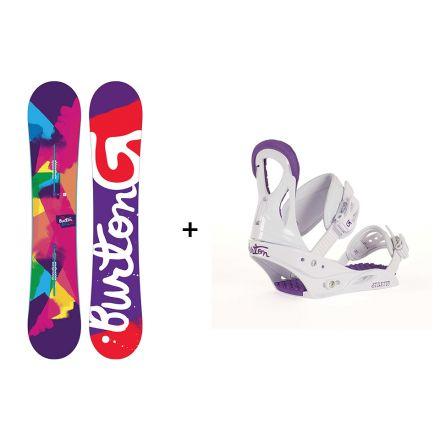 Pack Snowboard Burton Genie 2017 + Fixation Stiletto