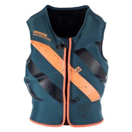 Mystic Block Impact Vest Front Zip Teal