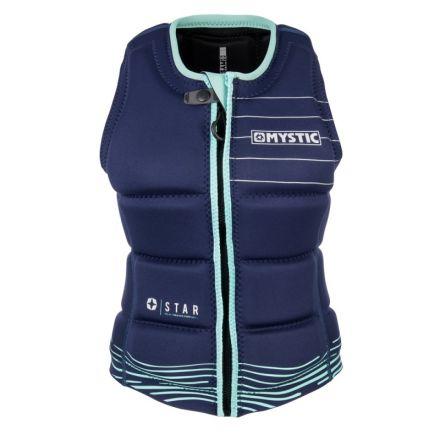 Mystic Star Impact Vest Front Zip Wake Women Navy