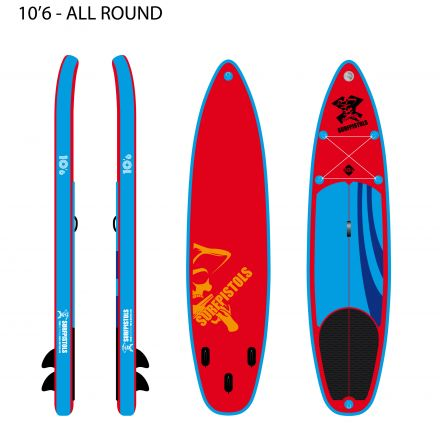SUP Gonflable Surfpistols Isup 10.6 Pirate