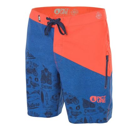 Picture Code 19 Boardshort Red Denim