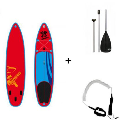 Pack Sup Gonflable Surfpistols Isup 10.6 + Pagaie + Leash
