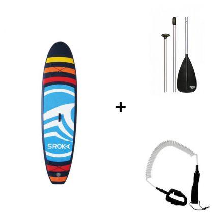 Pack Sup Gonflable Sroka Malibu Fusion + Pagaie + Leash