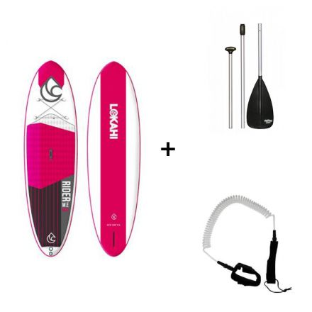Pack Sup Gonflable Lokahi We Rider Air Pink + Pagaie + Leash