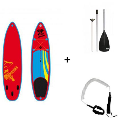 Pack Sup Gonflable Surfpistols Isup 10.0 + Pagaie + Leash