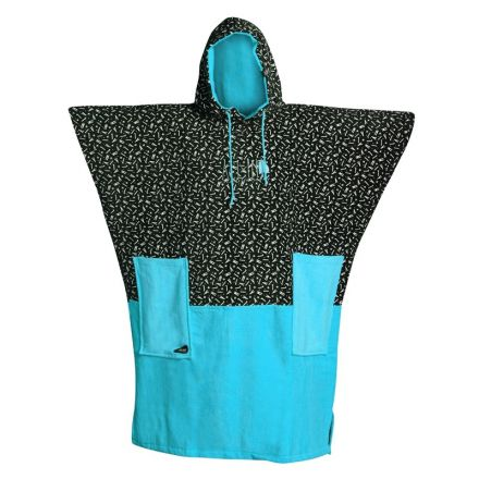 Poncho All-In Light Blue Print