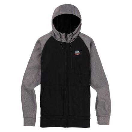 Burton Crown Bonded Full Zip Black