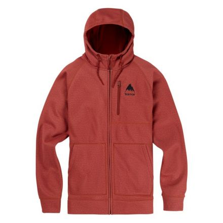 Burton Crown Bonded Full Zip Sparrow Heather