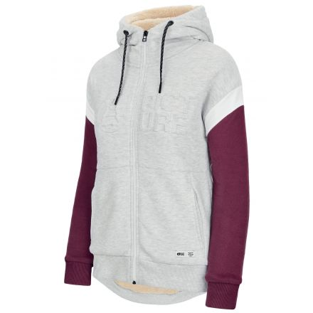 Picture Basement Hoody Zip Grey Melange