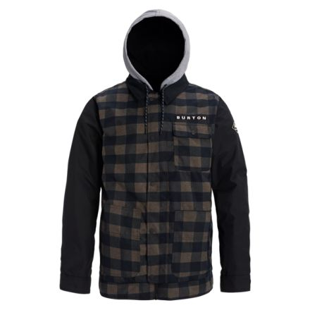 Burton Dunmore Jacket True Black Heather Buffalo Plaid