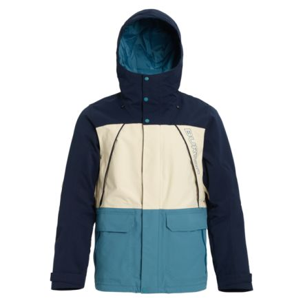 Burton Gore Breach Jacket Dress Blue Almond Milk Storm Blue