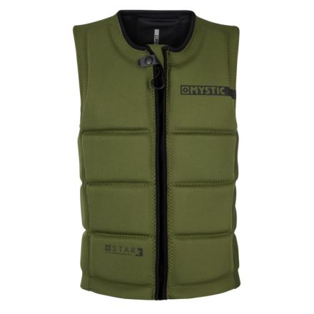 Mystic Star Impact Vest Front Zip Wake Army