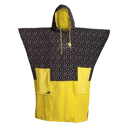 Poncho All-In Light Yellow Print