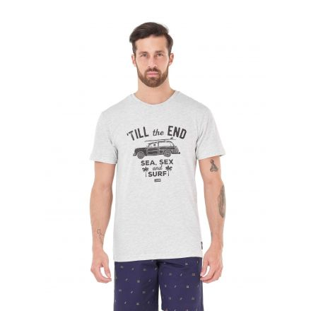 Picture Organic T-Shirt The End Light Grey