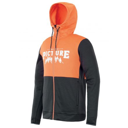 Picture Baxter Zip Tech Hoodie Orange