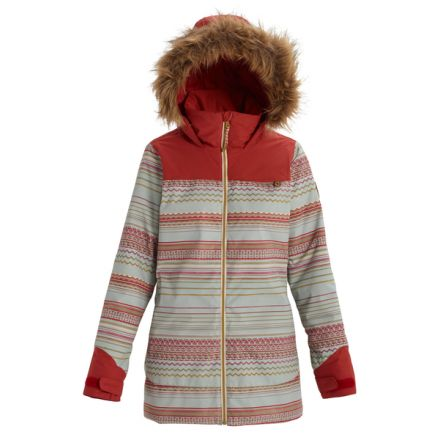 Burton Lelah Jacket Aqua Grey Revel Stripe