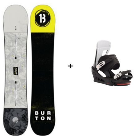 Snowboard Burton Descendant + Fixation Burton Freestyle