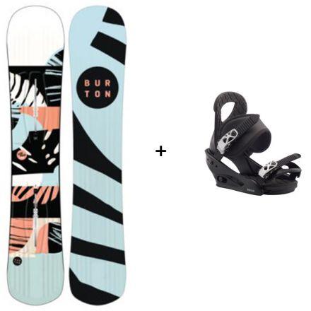 Snowboard Burton Hideaway + Fixation Burton Citizen