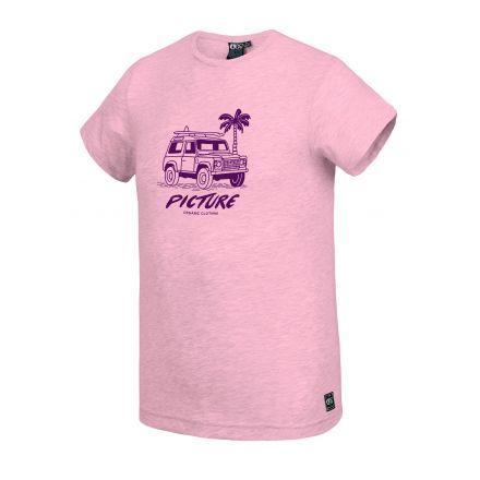 Picture T-Shirt Anglet Crystal Pink Melange
