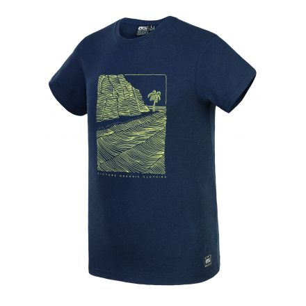 Picture T-Shirt Victor Dark Blue Melange