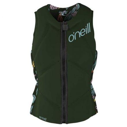 O'neill Wms Slasher Comp Vest Dark Olive Baylen