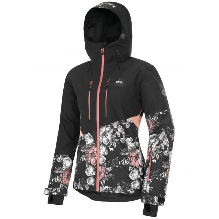 Picture Seen Jacket Peonies Black