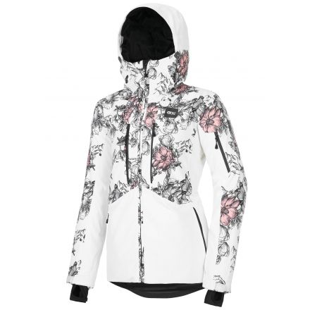 Picture Exa Jacket Peonies White