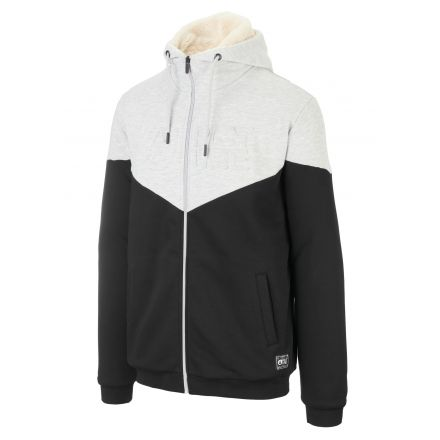 Picture Basement Plush Zip Hoodie Black