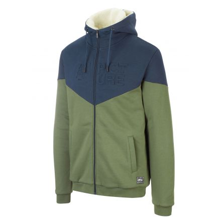 Picture Basement Plush Zip Hoodie Army Green