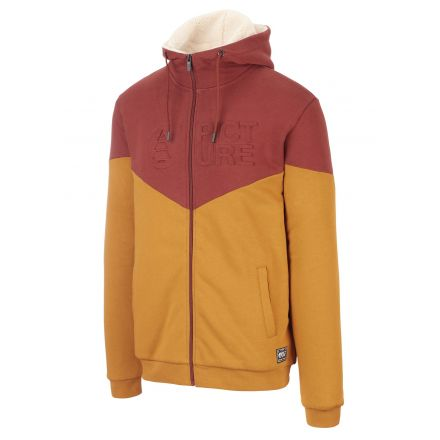 Picture Basement Plush Zip Hoodie Camel