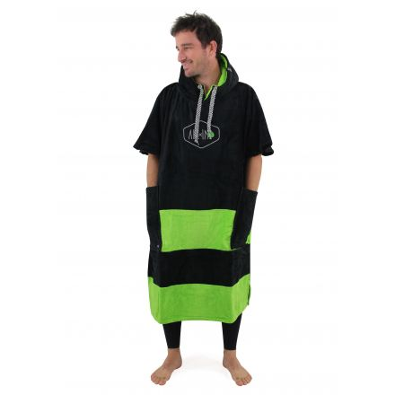 Poncho All In Flash Line Black Green