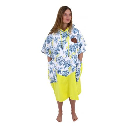 Poncho All In V Bumpy Line Palm Tree