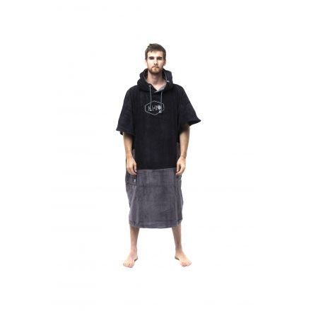 Poncho All In Big Foot Black Charcoal