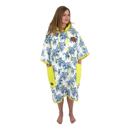 Poncho All In T Bumpy Line Palm Tree