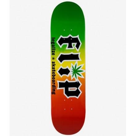skateboard Flip deck HKD Legalize Rasta 8.25
