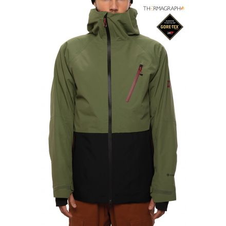 686 GORE TEX  Hydra Down Thermagraph Jacket  Surplus Green