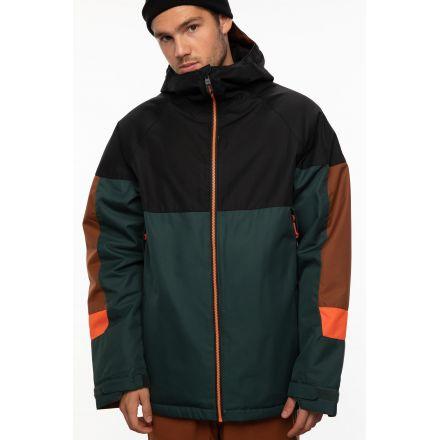 686 Static Insulated Jacket Dark Spruce Colorblock