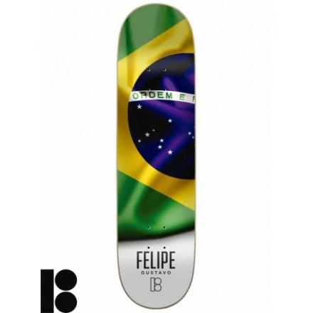 skateboard Plan B deck felipe Roots  8'0 X 31'75