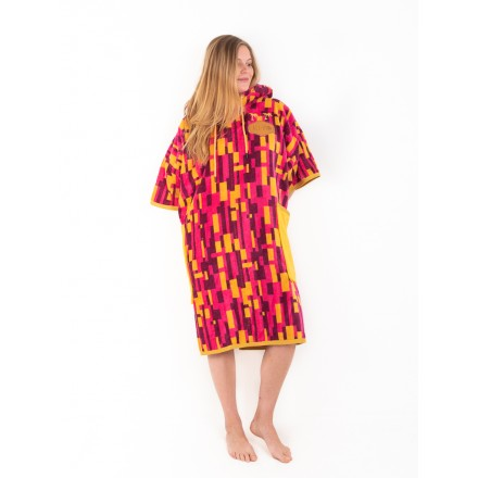 poncho ALL IN Jacquard viola femme