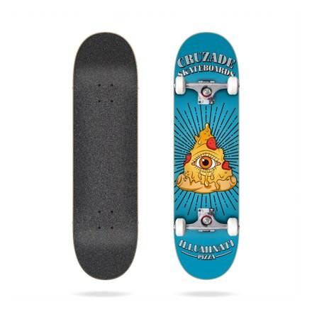 """skateboard cruzade illuminaty pizza 8"""""""