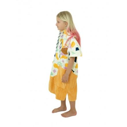 poncho all in bumpy jaune junior