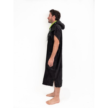 poncho all in flash black palm trees adulte